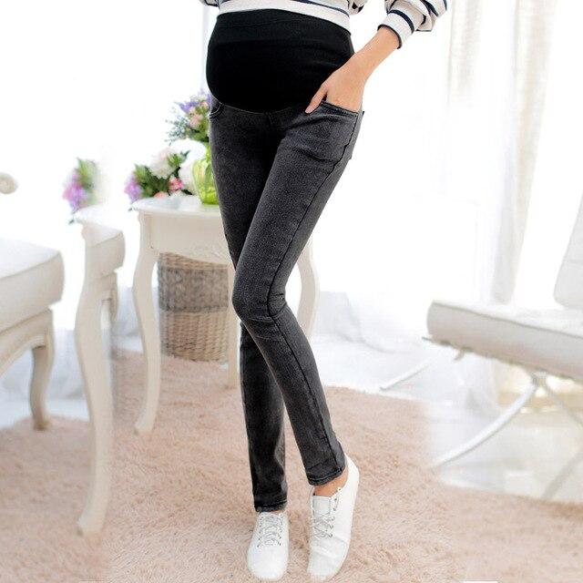 2016 зимние беременность одежда специальное предложение прибытие эластичный пояс джинсы для беременных женщин по беременности и родам тощие плюс