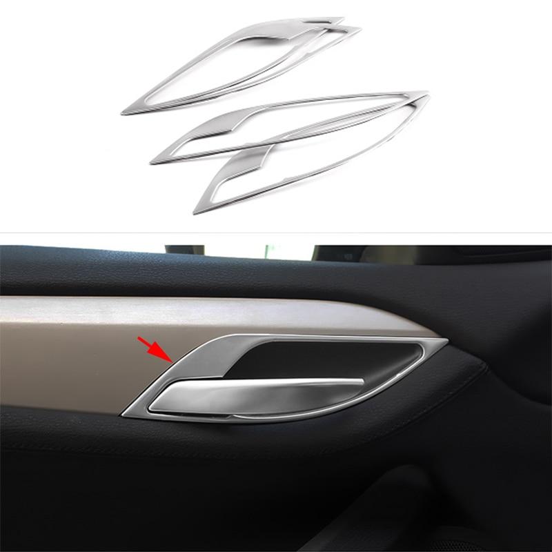 2015 Bmw X1 Interior: 4pc Stainless Interior Door Handle Panel Frame Cover Trim
