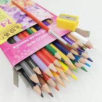 [MARCO] 24 Colors Water Color Pencil Set Professional Soft Water Soluble Coloured Pencils For Fine Art Drawing Sketch 4120 24CB