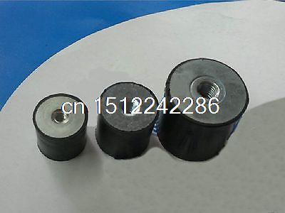 10 шт. двойной конец резьба М6 резиновый демпфер гора резина размер 20 мм * 20 мм