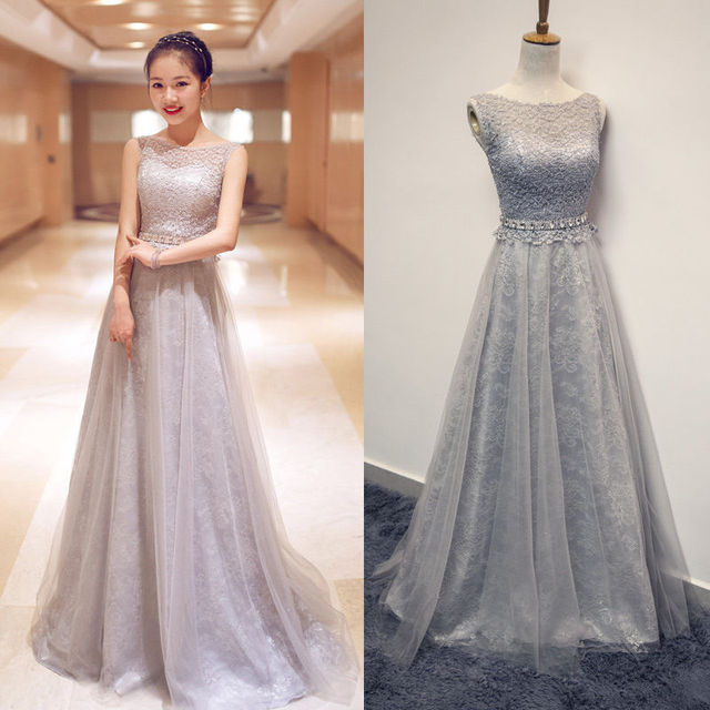 Simple Elegant Tulle A Line Scoop Neck Cap Sleeves Lace: Aliexpress.com : Buy Prom Dress Lace Bodice Sheer Scoop