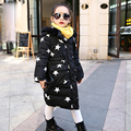 2016 new style winter jacket for girls long outerwear coat thick warm hooded kids parka coats big girls clothing DQ031