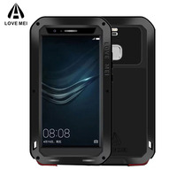 Full Body Protective Huawei P9 Case Gorilla Glass Aluminum Metal Armor Shockproof Huawei P9 Plus Luxury