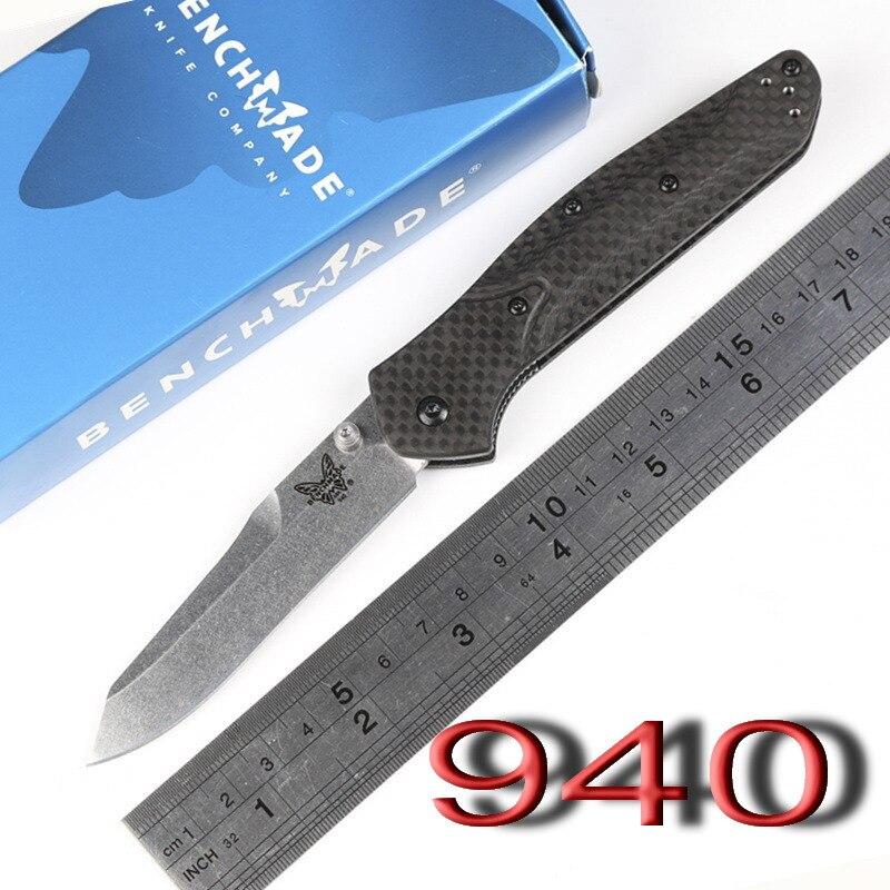 butterfly BM OEM 940 943 S90V Axis folding font b knife b font carbon fiber Copper