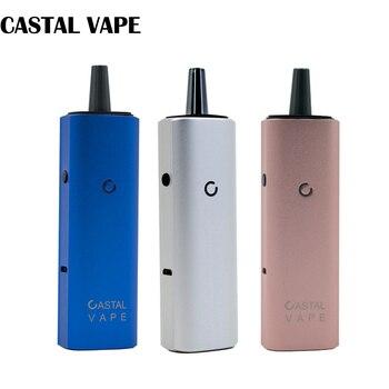 High end Original CASTAL VAPE 2 IN 1 dry herb & wax vaporizer 3000mAh Electronic Cigarette kit Temperature Control Vaporizer kit