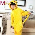 Niños Niños Franela Onesies Lindo Animal de la Historieta Pikachu Pijama Party Cosplay Pijamas Pijamas Pijamas Para Niñas