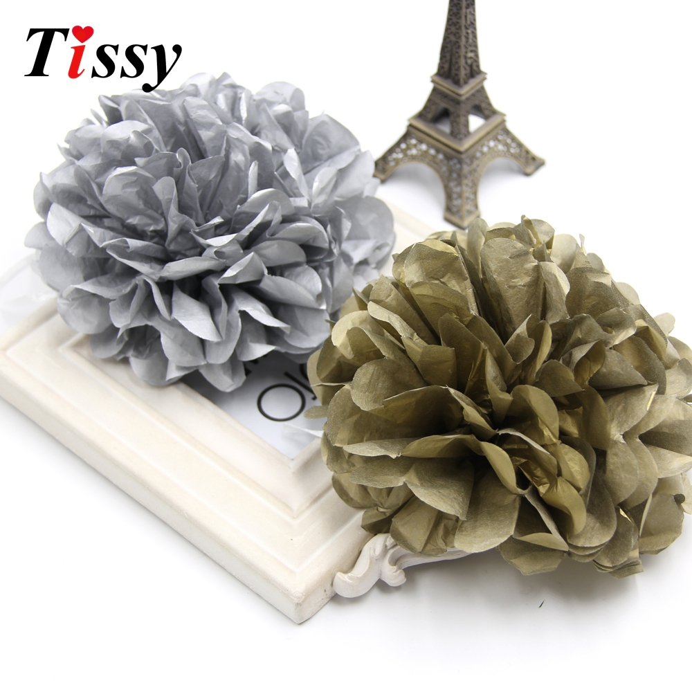 Birthday party backdrop tissue paper pom poms product on alibaba com - 5pcs Lot Gold Sliver Tissue Paper Pom Poms Flower Balls Home Garden Kids Birthday Wedding Party Decoration Baby Shower Favors