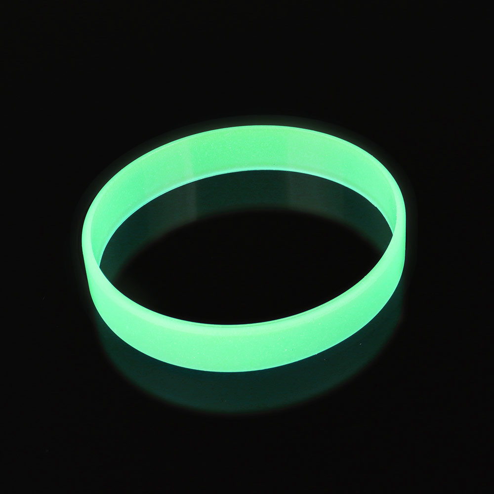 blue yellow green glow in the dark width rubber hand bands silicone bracelets elastic rubber wristband - Support Our Troops Silicone Bracelet