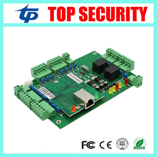 High security TCP/IP card access control panel access control main board with weigand in for 2 doors 2 sides LP02 door control free shipping tcp ip 2 doors access controller can connect with 4 pcs weigand reader good quality door access control board l02