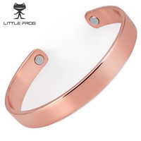 LITTLE FROG Rose Gold cuff men magnets bangle health magnetic pure copper bracelet bangles for men