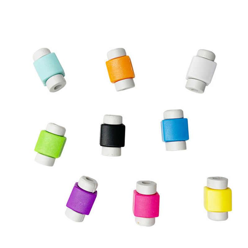 Đơn Giản Dễ Thương Bảo Vệ Cáp Dữ Liệu Đường Dây Bảo Vệ Bảo Vệ Cáp Cuốn Gọn Cho Iphone USB Màu Sắc Dây Cáp Sạc