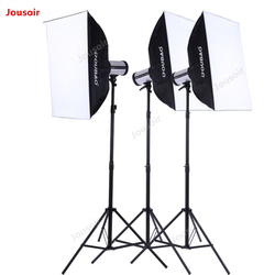 280W Three Flashlight Set Photography triple flash suit lights package lighting kit Studio lamp stand softbox CD50 T10