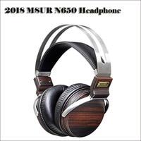MSUR N650 Wooden DJ Headphones Hifi Stereo 3.5mm Headphone Beryllium Alloy Driver Headset Earmuff headphones Music Earphone