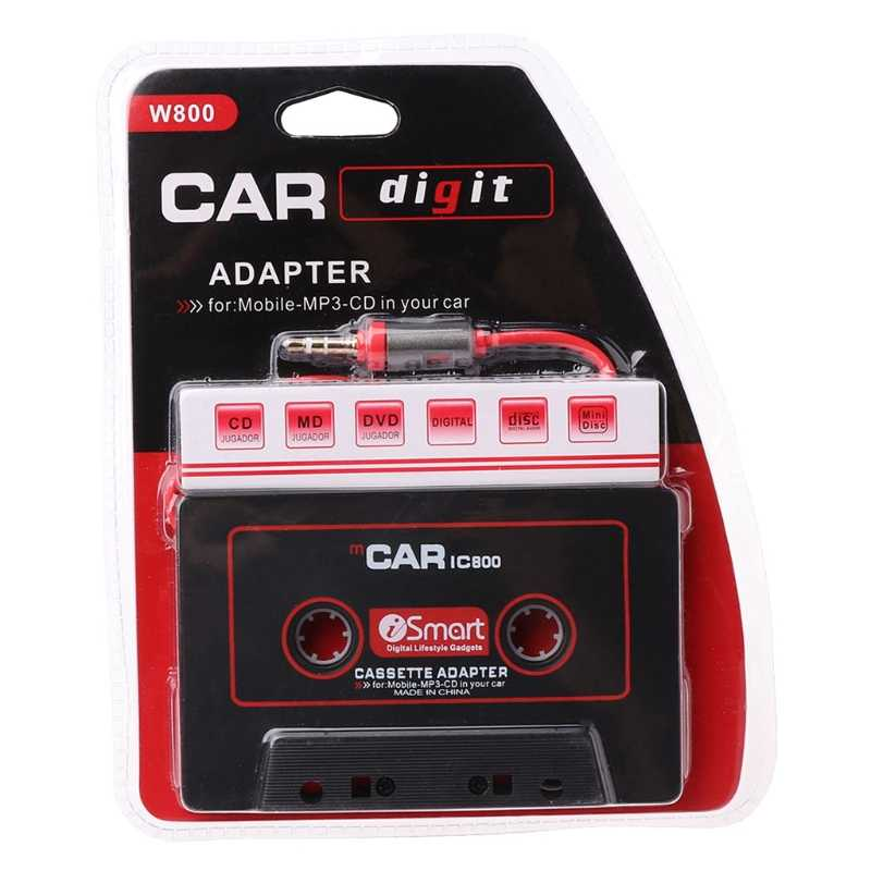 3.5mm AUX Car Audio Tape Cassette Recorder Adapter Converter Voor Auto CD Speler MP3