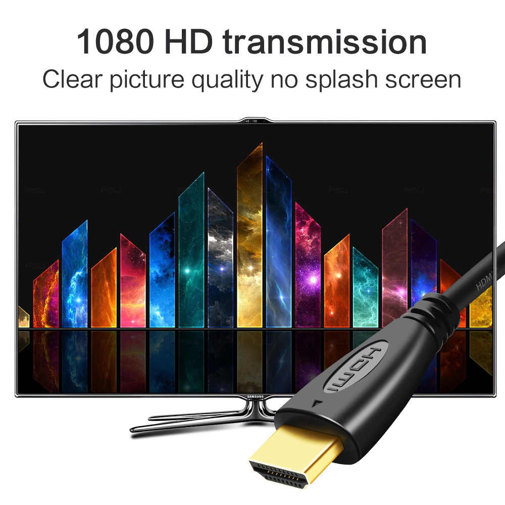 HDMI Cable Gold-plated 1080P HDMI Cable 0.5m 1m 1.5m 2m 3m 5m 8m 10m 15m 20m for HD TV LCD Laptop PS3 Projector Computer