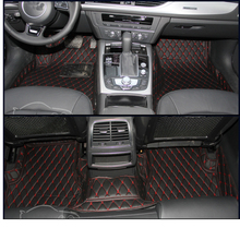 lsrtw2017 leather car interior floor mat for audi a6 c5 c6 avant 2000 2001 2002 2003 2004 2005 2006 2007 2008 2009 accessories