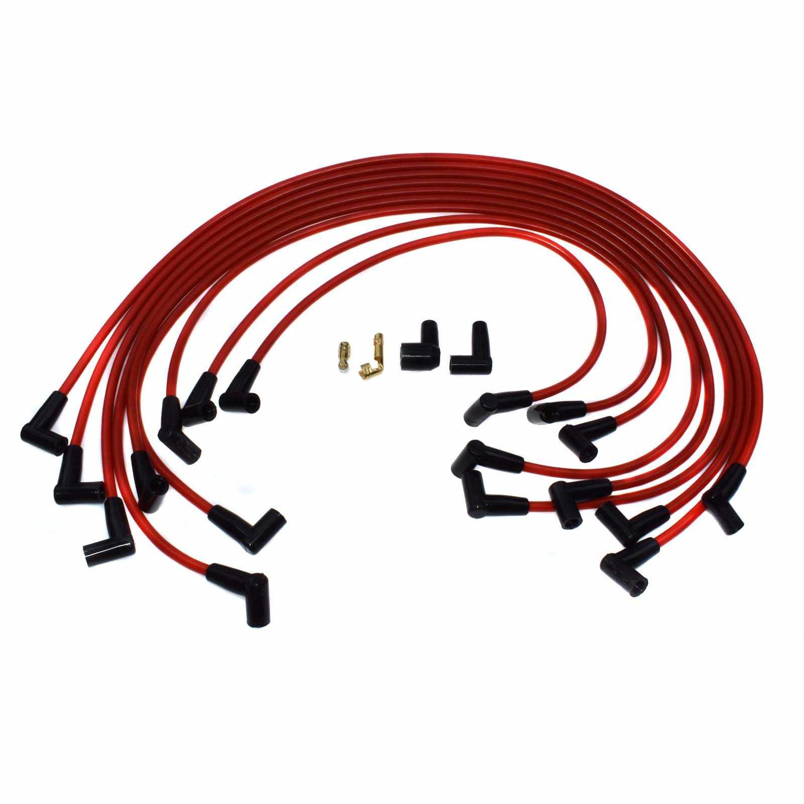 WOLFIGO 9 шт. 73684 провод к свече зажигания Набор кабелей 90 градусов HEI силиконовый над клапаном 9 мм для Chevrolet Matiz Daewoo Tico