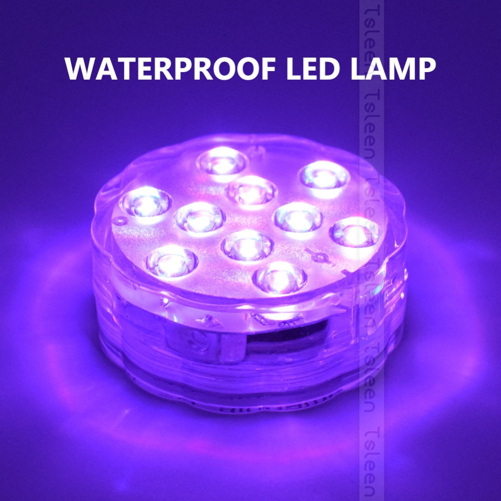 RGB LED Underwater Light Battery Power Pond Outdoor Swimming Pool Floating Waterproof Decorative LED Light With Remote Control