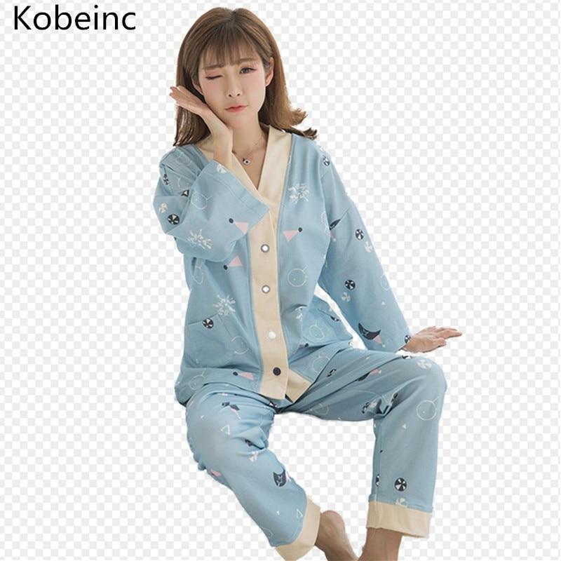 Zwangerschapskleding Pyjama.Kobeinc Mode Zwangere Vrouwen Borstvoeding Pyjama Suits Lente Lange