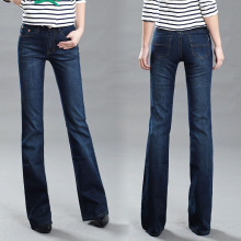 Акция, высокое качество, женские облегающие джинсы со средней талией, Модные расклешенные брюки, Удобные расклешенные брюки