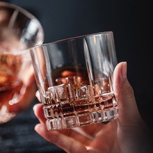 1Pcs Lead-free Crystal glass cup whiskey wine Creative thickening  cocktail Classic household Party Supplies