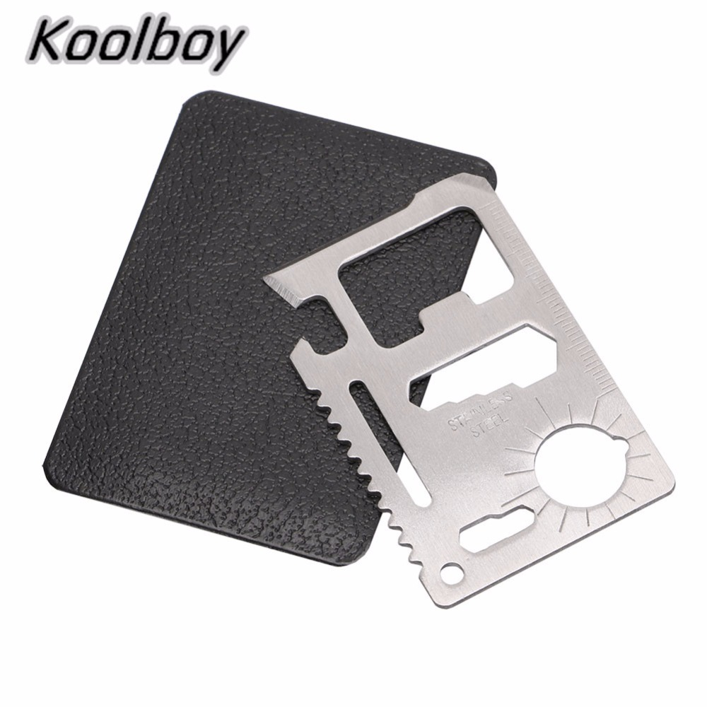 2 x Mini 11 in 1 Multifunction Credit Card Tool Living Survival Outdoor Hunt Kit
