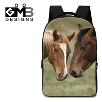 Dispalang Brand Designer Multifunctional Travel Notebook Bags 17 Inch Horse Animal Backpack For College Students School