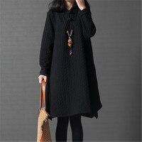 שמלת הריון סתיו החורף החדש קוריאה סגנון Loose גודל גדול נשים נוחות כותנה שמלה לנשים בהריון YFQ195 Vestidos