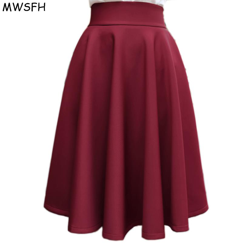 In The Autumn Winter Grown Place Umbrella Skirt Retro Waisted Body Skirt New Europe And The Code Word Pleated Skirt For Female