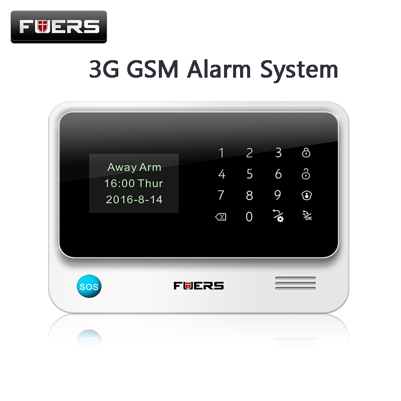 100 Original G90B Plus 3G WIFI gsm alarm system Touch Keyboard IOS Android APP Home Burglar