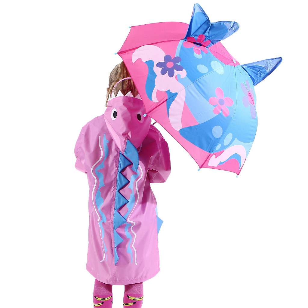 Image 5 - Baby Cover Parasol For Sun Rain Protection UV Rays 3D Cartoon Outdoor Umbrella Wind Resistant Folding Umbrella Rain Windproof-in Umbrellas from Home & Garden