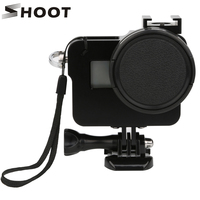 SHOOT CNC Aluminum Alloy Protective Case Shell Frame With 52mm UV Lens For GoPro HERO 5