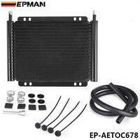 EPMAN Racing Car Aluminum Performance 19 Row Series 8000 Plate Fin Transmission Cooler Kit EP AETOC678