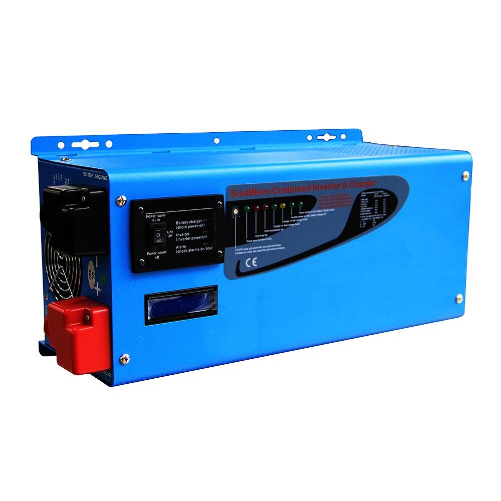 12 v 230vac onduleur onde sinusoïdale pure 2000 w toroïdal transformateur hors réseau onduleur solaire avec LED construit dans batterie chargeur