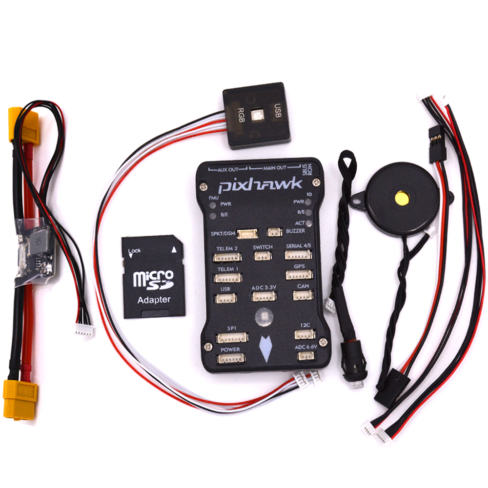 with Safety Switch & 16 GB Card / XT60 Power Module / RGB usb Pixhawk PX4 Autopilot PIX 2.4.8 32 Bit Flight Controller