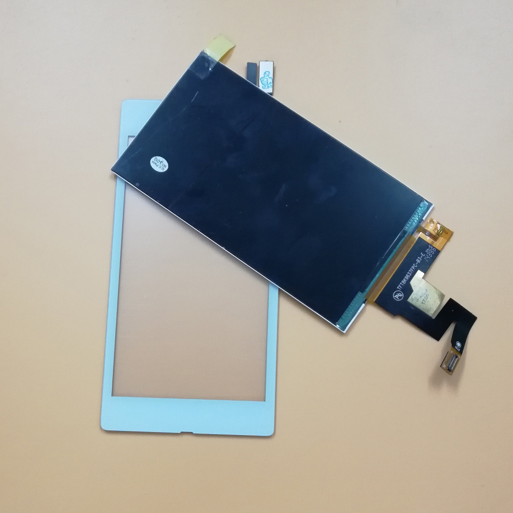 Black / White For SONY XPERIA M2 AQUA D2403 D2406 4G / LTE Touch Screen Digitizer Glass Sensor + LCD Display Panel Monitor