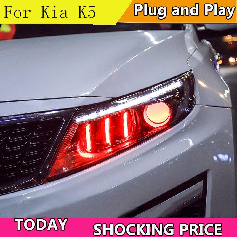 doxa Car Styling for Kia K5 Rio Headlights 2014 2015 Korea Design K5 LED Headlight LED