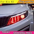 Doxa автомобильный Стайлинг для Kia K5 Rio фары 2014-2015 корейский дизайн K5 светодиодные фары DRL Bi Xenon линзы дальнего ближнего света парковка