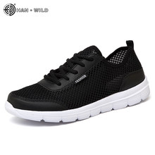 2018 Men Shoes Summer Sneakers Breathable Casual Shoes Couple Lover Fashion Lace up Mens Mesh Flats Shoe Big Plus Size(China)