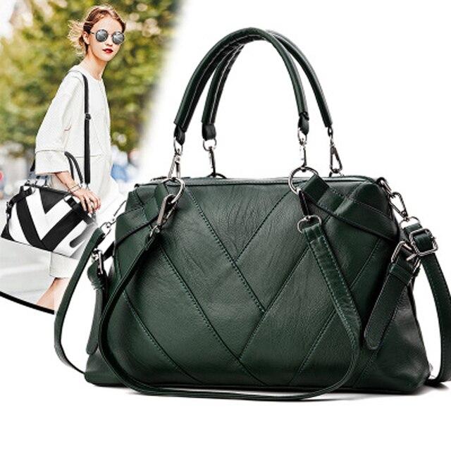 b2d36925bf Women Handbag High Quality PU Woman s Shoulder Bag Tote Bags Casual Ladies  Solid Bag Fashion Female Soft Bag Mulit-Colors