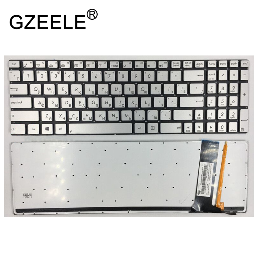 GZEELE Russian RU Keyboard for ASUS N56 N56V N76 N76V N76VB N56DY N76VJ N76VM N76VZ U500VZ N56VV N56VZ U500VZ U500 U500V backlit with 4gb video card gt650m n76vz motherboard for asus n76vz n76v n76vm n76vj n76vb laptop mainboard n76vz motherboard test ok