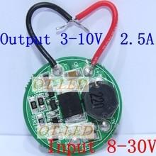 Input 3.7V~30V 27mm Driver For Cree LED 1~3PCS 10W XML T6/U2 XM-L2/U2 flashlight 12V/24V Battery Car light