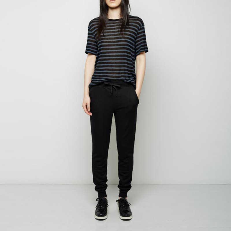 Высококачественные весенне-осенние модные женские хлопковые черные/серые брюки женские мягкие женские спортивные брюки с высокой талией повседневные брюки XS-L