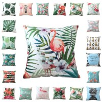 2018 New Rich Velvet   Cushion     Cover   Flamingo Pillowcase Cojines Decorativos Para Sofa Home Car Decor Pillowcase Coussin De Salon