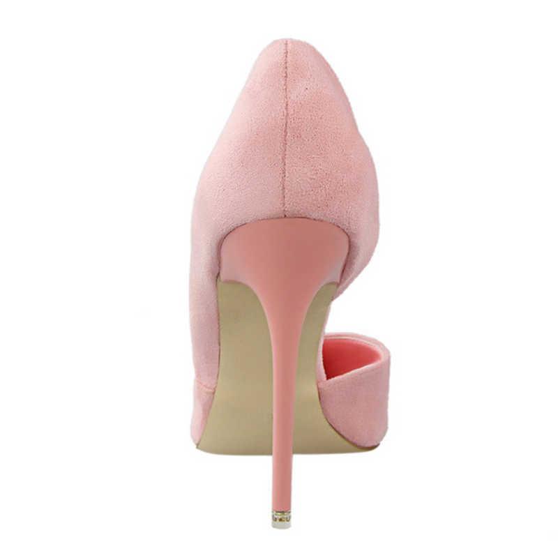 Plardin 2019 夏の靴女性甘い女性パーティー結婚式浅い口カット女性の靴薄型ハイヒールパンプス