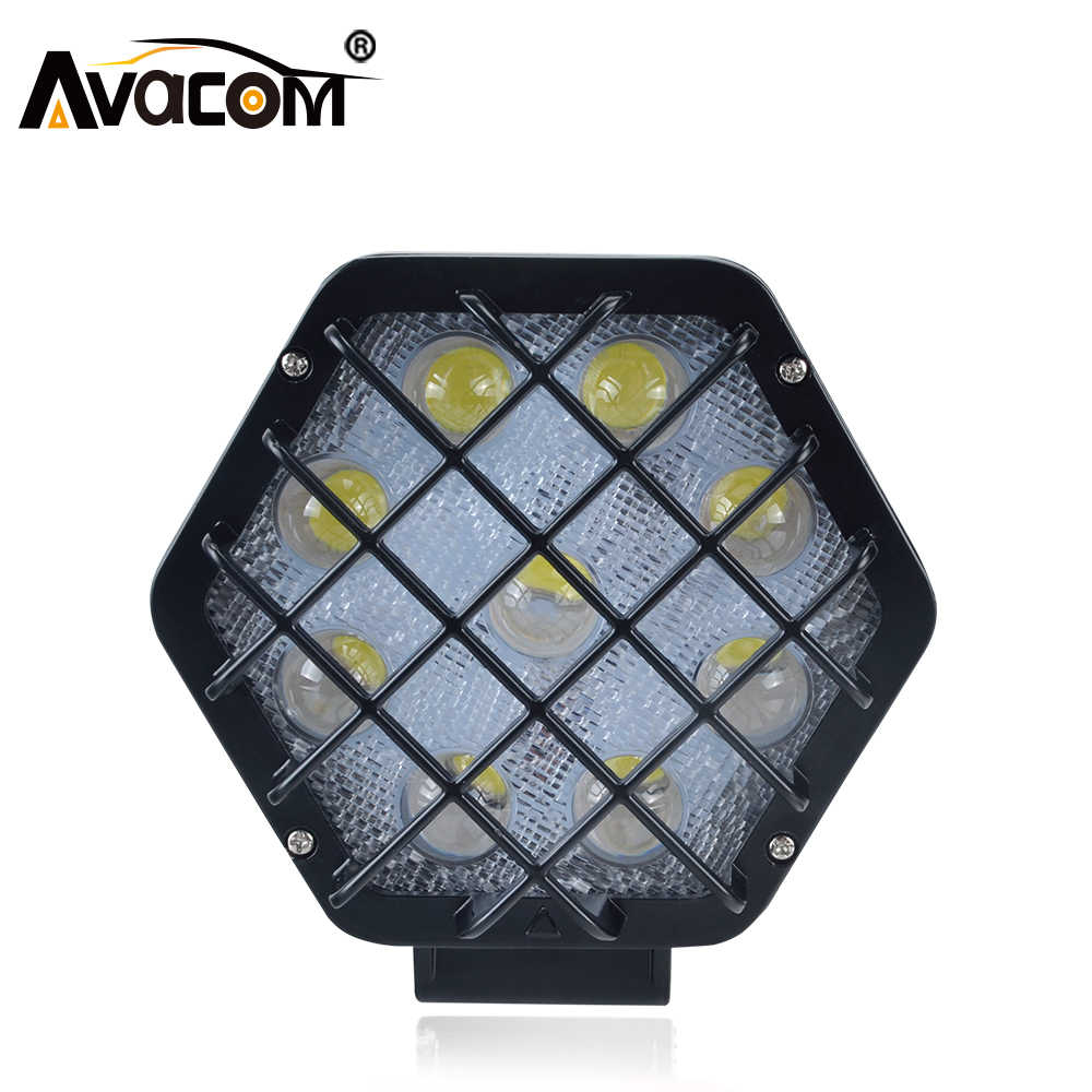 Avacom 12V LED Working Lights Bar Work Lamp 24V 48W 4880Lm Offroad LED Work Bulb Headlight For ATV SUV Boat Truck for Jeep BMW