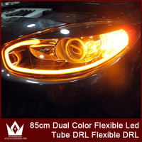 Nightlord 2pcs 85cm DRL Flexible LED Tube Strip Style Turn Signal Light Parking Lamps Daytime Running
