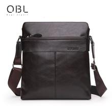 QiBoLu 2019 New Mens Leather Bags Flap Business Messenger Bag PU  Men Crossbody Casual Solid Zipper Shoulder Handbags