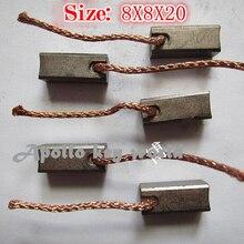 Угольная щетка для автомобильного нагревателя вентилятора воздуходувки(8*8*20 мм