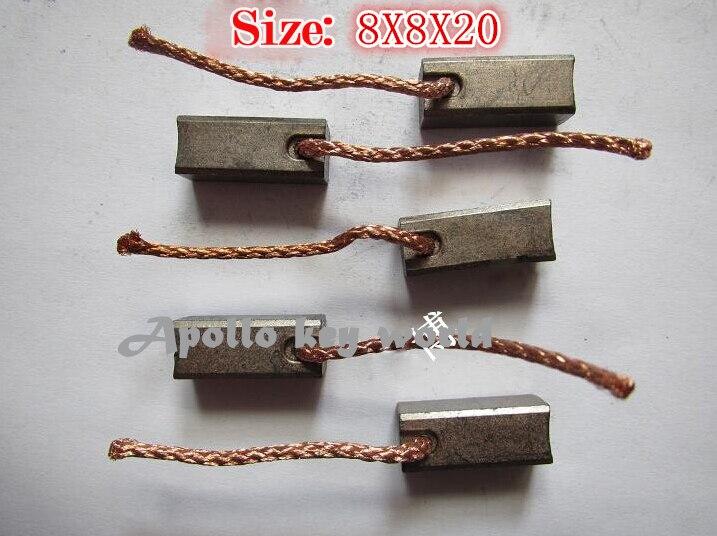Escova de carbono para o ventilador do ventilador do aquecedor do automóvel ar-ventilador (8*8*20mm)